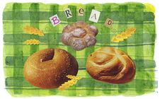 Bread - Collage Royalty Free Stock Images