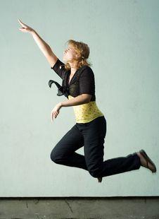 Free Jumping Girl. Royalty Free Stock Image - 5684846