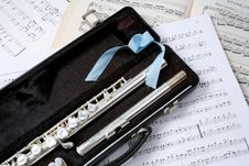 Free Silver Flute Between Dots Stock Images - 5684874
