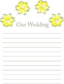 Free Wedding List Stock Photos - 5684993