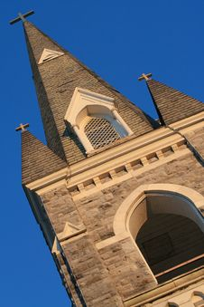 Free Three-cross Tower Church Stock Image - 5685321