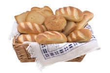 Free Bread Assortment On White Background Royalty Free Stock Photos - 5685588