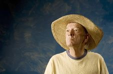Free Man In A Cowboy Hat Stock Photography - 5685712