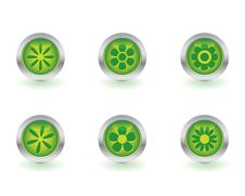 Ecology Buttons Royalty Free Stock Photos