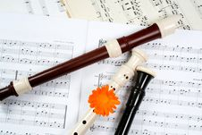 Free Flutes Between Dots Stock Photography - 5686042