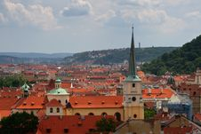 Free Tiled Red Roofs Of Old Town. Stock Photo - 5687350