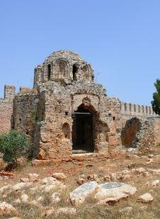 Turkey, Alanya Castle Detail Stock Photos
