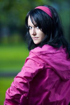 Free Girl In Pink Jacket Royalty Free Stock Photography - 5687947