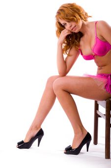 Free The Beautiful Girl In A Pink Underwear Royalty Free Stock Photo - 5688265