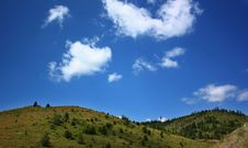Free Green Hills And Blue Sky Royalty Free Stock Photography - 5688317