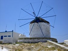 Free Old Greek Windmill Stock Photos - 5689383