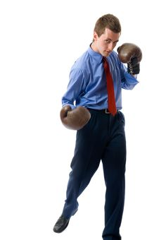Free Young Business Man Attack. Stock Photo - 5689990