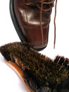 Free Clean Brush And Brown Men Shoe Stock Photography - 5691292