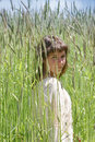 Free Young Girl In High Grass Field Royalty Free Stock Photos - 5693588