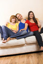 Free Happy Women In A Living Room Stock Images - 5694754