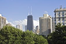 Free Hancock Building Seen From Near North-west Side. Stock Photo - 5690000