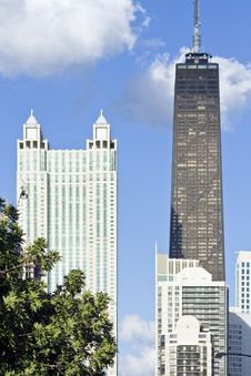 Free Hancock Building Seen From West Side Stock Images - 5690004