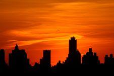 Free Manhattan At Sunset Royalty Free Stock Photos - 5690228