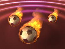 Free Burning Soccer Ball Stock Photo - 5690320