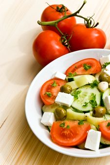 Free Mixed Greek Salad - Close Up Shot Stock Image - 5690501
