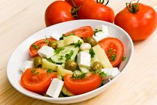 Free Mixed Greek Salad - Close Up Shot Stock Photography - 5690502