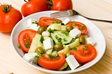 Free Mixed Greek Salad - Close Up Shot Stock Images - 5690504