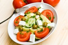 Free Mixed Greek Salad - Close Up Shot Royalty Free Stock Image - 5690506