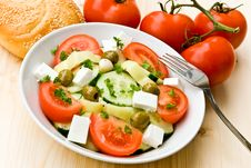 Free Mixed Greek Salad - Close Up Shot Royalty Free Stock Photography - 5690507