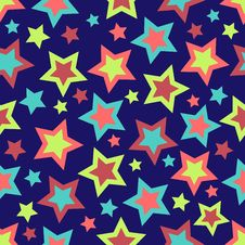 Free Bold Stars Background Royalty Free Stock Images - 5691469