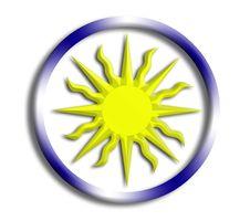 Free Uruguay Shield For Olympics Royalty Free Stock Photos - 5691578