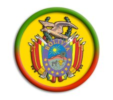 Bolivia Shield For Olympics Royalty Free Stock Images