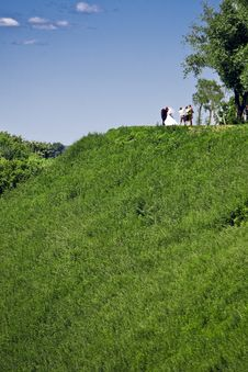 Free Wedding On A Hill Top Stock Image - 5691961