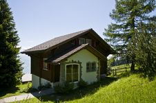 Swiss Mountain House Royalty Free Stock Images