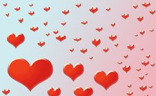 Free Red Hearts Background Stock Images - 5693044