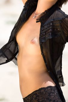 Naked Torso Of Beautiful Woman Stock Images