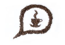 Free Coffee Dialog Bubble Royalty Free Stock Photography - 5693127