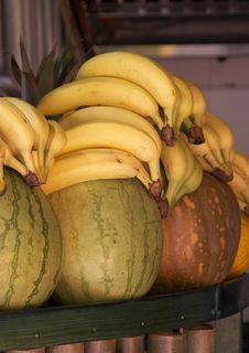 Free Watermelons And Bananas Royalty Free Stock Images - 5693139