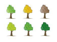 Tree Set Royalty Free Stock Images