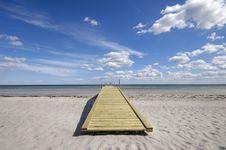 Free Bridge On Beach Royalty Free Stock Photos - 5693488