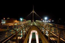 Bridge At Night Stock Photo