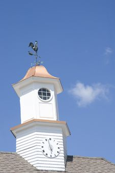 Free Clock And Weathervane Stock Image - 5694051