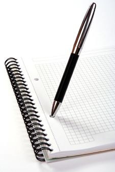 Free Notepad With Pen Stock Images - 5694244