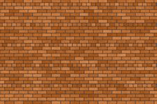 Free Orange And Brown Brick Wall Stock Photo - 5694430