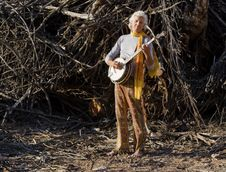 Free Barefoot Banjo Player Stock Images - 5695044