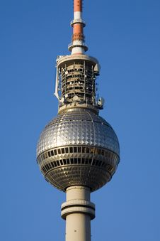 Free Section Of The Television Tower In Berlin Royalty Free Stock Image - 5695816