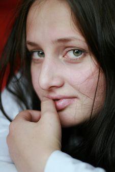 Free Flirt Girl Stock Image - 5696451