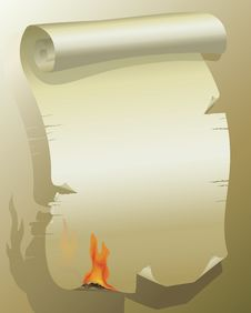 Free Flaming Paper Royalty Free Stock Photography - 5696587