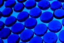 Free Abstract Background From Blue Glass Pebbles Stock Photos - 5696683