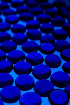 Abstract Background From Blue Glass Pebbles Royalty Free Stock Images
