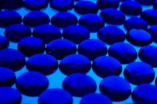 Abstract Background From Blue Glass Pebbles Stock Photos